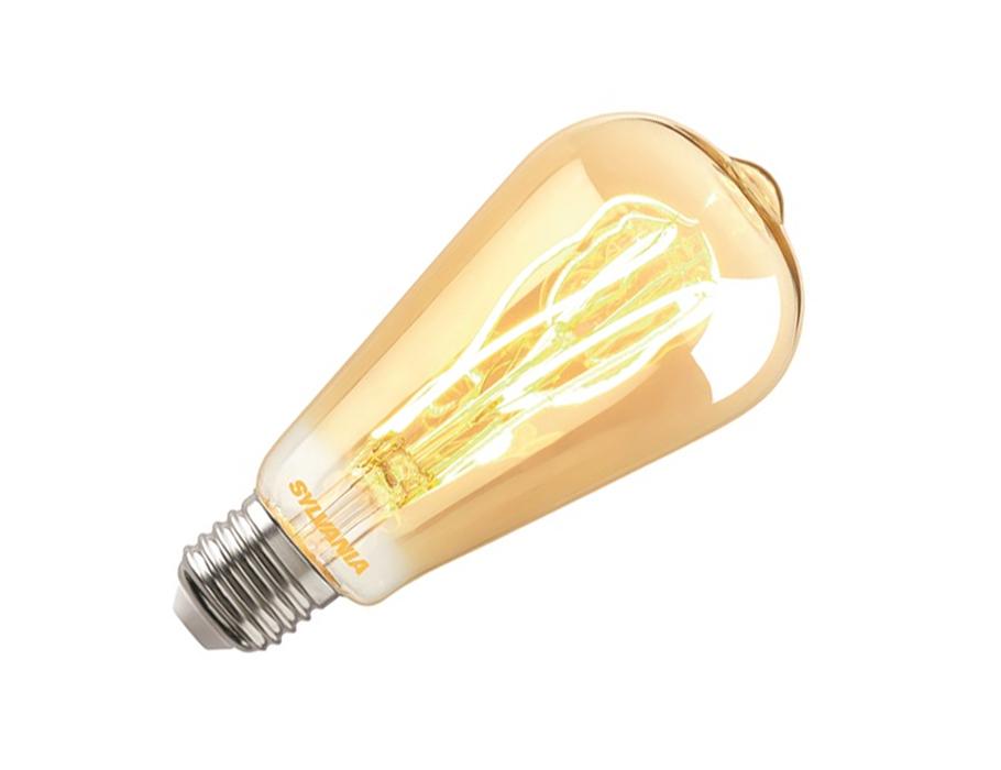 Ledlamp - RETRO - E27 - 250 lm - ST64 Rustique - helder goud