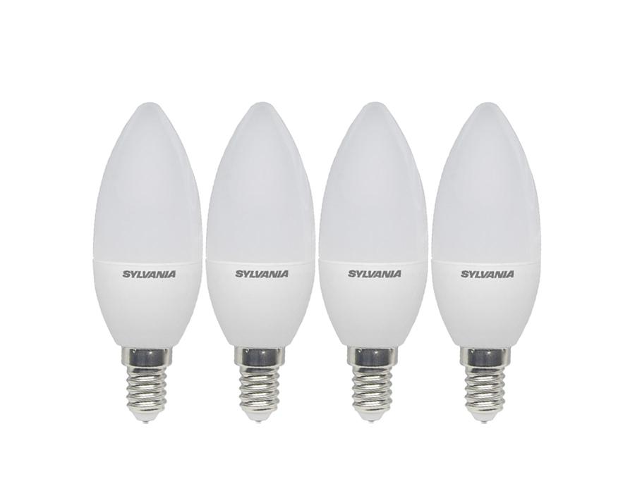 Ledlamp - E14 - 250 lm - kaars - mat - 4 stuks