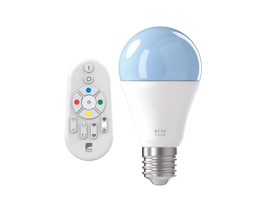 Ledlamp - E27 - 806 lm - Bol - Mat - Smart - Inclusief afstandsbediening