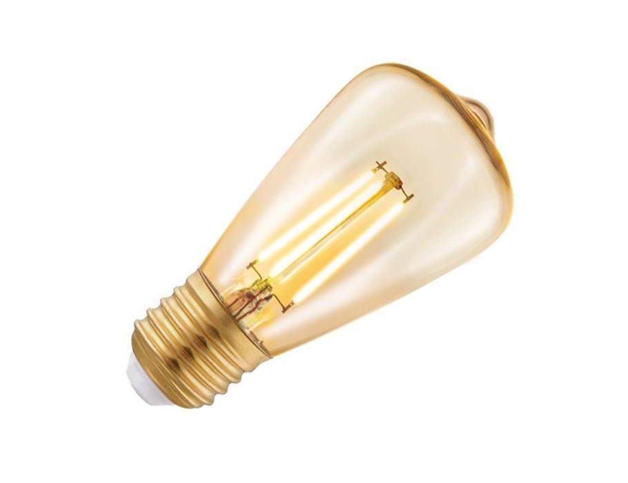Ledlamp - E27- 220 lm - ST48 Rustique - Amber 2200K