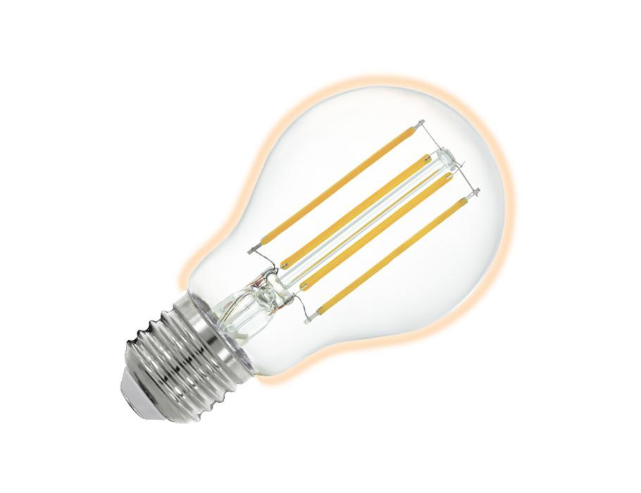 Ledlamp - E27 - 806 lm - Bol - Helder - Smart