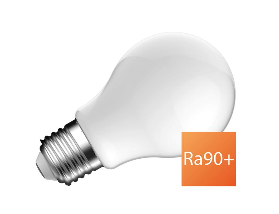 Ledlamp - E27 - 810 lm - bol - mat - dimbaar