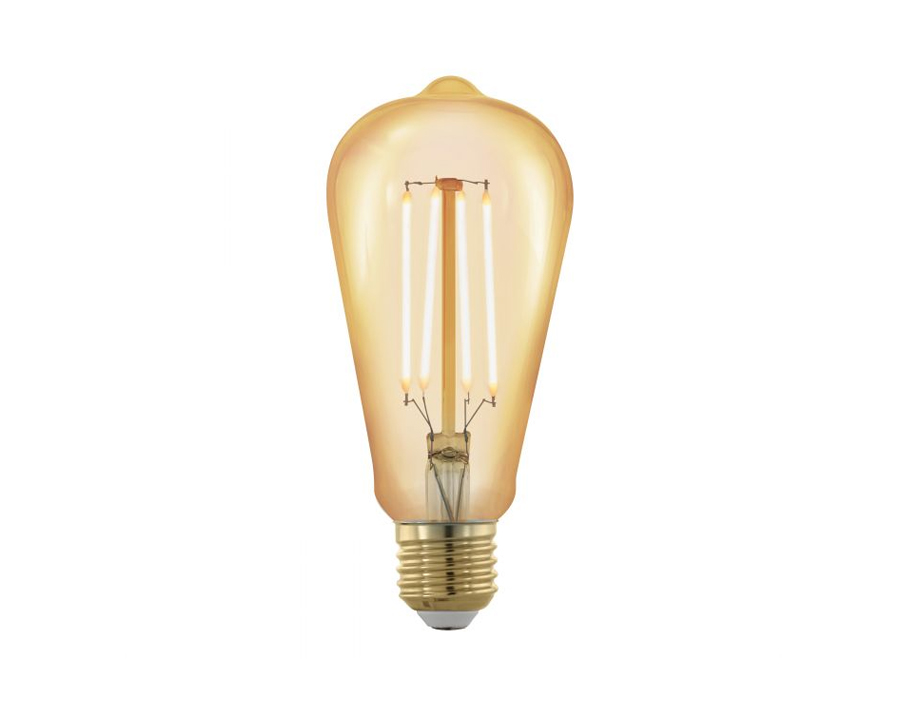 Ledlamp - Ovaal - E27 - 320 lm - Amber - Dimbaar - 1700K