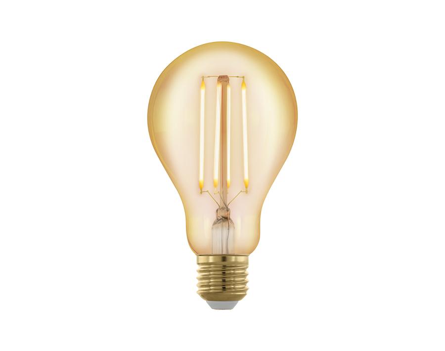 Ledlamp - Bol -  E27 - 320 lm - Amber - Dimbaar - 1700K