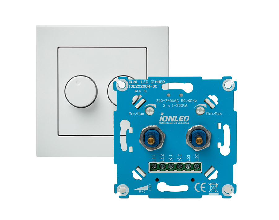 LED Dimmer - Universeel - Duo - 2 x 200 W