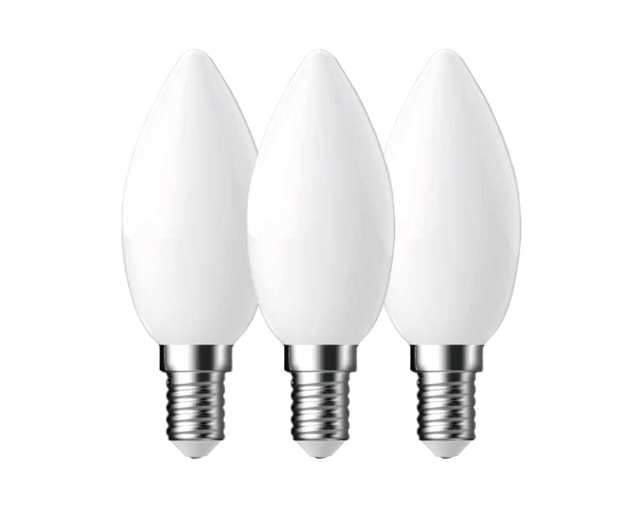 Ledlamp Kaars - set van 3 - E14 - 250 lm - mat