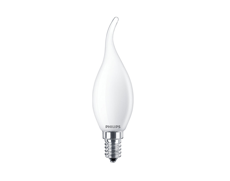 Ledlamp Kaars - met krul - E14 - 250 lm - mat