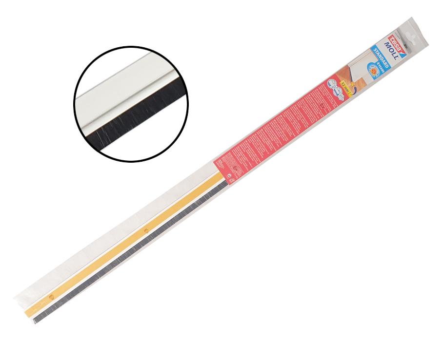 Dorpelstrip (borstel) voor effen vloeren - wit