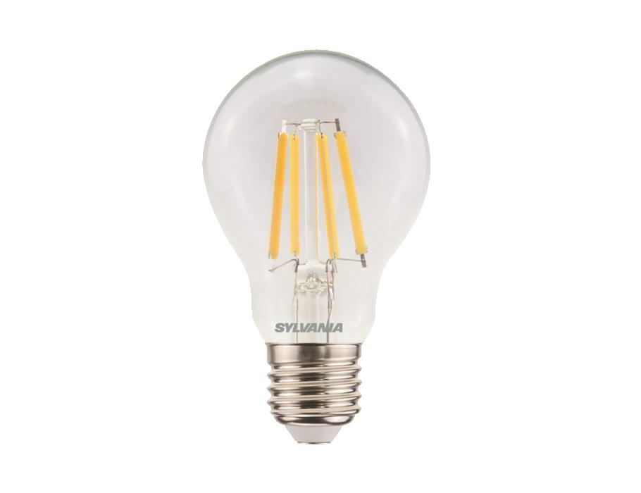 Ledlamp - E27 - 806 lm - dimbaar - bol - doorzichtig