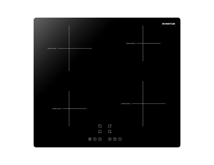 Inbouw inductie kookplaat - 60 cm